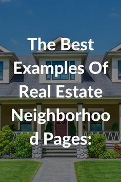 The Best Examples Of Neighborhood or Community Pages Real Estate Agents Are Using to Get Business From Their Website: http://easyagentpro.tumblr.com/post/132635294147/the-best-examples-of-real-estate-website