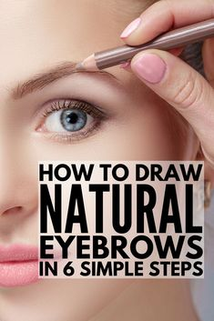 How to Draw Eyebrows Naturally EASY! 6 step by step tutorials for beginners to teach you how to draw eyebrows using your makeup product of choice! Learn how to fill in your brows with pencil or eyeshadow, learn the secret to getting perfect arches with How To Do Eyebrows, Filling In Eyebrows, How To Pencil Eyebrows, Best Eyebrows, Brow Filling, Blonde Eyebrows, Eyebrows For Blondes, Makeup For Blondes, Eyebrow Makeup Tips