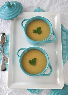 celery root & apple soup