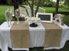 Burlap Table Runner Rustic Wedding Decor by YourDivineAffair, $12.95