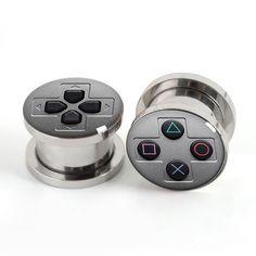 Spielkonsole-Dübel, Schraube Flare Flesh Tunnel Ohr Plug Ohrring trage Stecker Kegel Tunnel