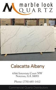 Atlanta premium quartz slabs Calacatta Albany quartz in Norcross Sino International Titan Quartz 770-685-1412. Calacatta Quartz, Quartz Slab, Atlanta, Collection, Tinkerbell