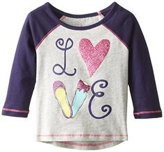 The Childrens Place Baby Girls Active Raglan Top HeatherGrey 9 12 Months ** See this great product.
