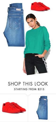"""""""ii"""" by rodgerixa on Polyvore featuring Maison Margiela, AG Adriano Goldschmied and Nasty Gal"""