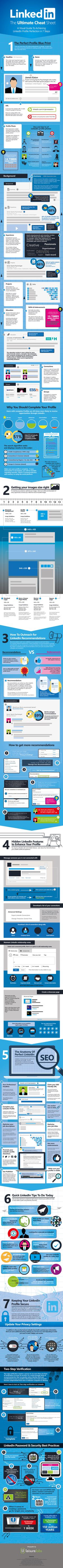 Personal Branding on LinkedIn: 7 Steps to LinkedIn Profile Perfection #Infographic