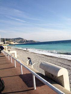 a beach in Nice, France