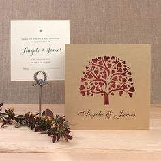 Intricate Heart Tree Laser Cut Day Invitation and RSVP Wedding set with Personalisation + Envelopes Laser Cut Wedding Stationery, Luxury Wedding Invitations, Wedding Ties, Wedding Day, Wedding Wording, Heart Tree, Types Of Printing, Invitation Envelopes, Card Sizes