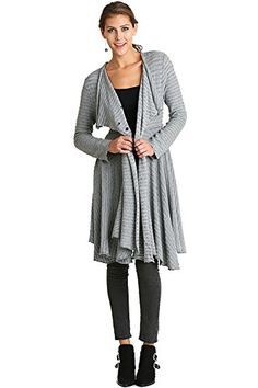 c0ef730cd495 Umgee Women s Knit Sweater featuring a Single Button Closure Jacket Cardigan  outer wear (S