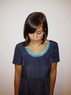 Cleo Turquoise Tooth Necklace by kleinesblond on Etsy, $50.00
