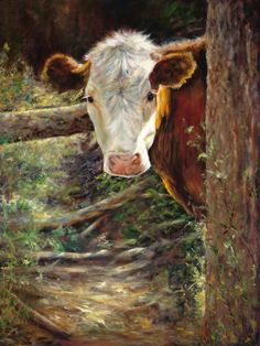 - oil painting by Maureen Flinn, Canada Cow Pictures, Pictures To Paint, Cow Painting, Farm Art, Cute Cows, Cow Art, Country Art, Country Music, Tier Fotos
