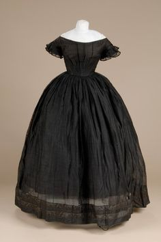 Mourning evening dress ca. 1850 From the Litchfield Historical Society