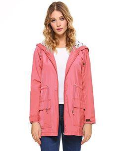e16f8b0f795dc9 Beautiful iClosam iClosam Women Waterproof Lightweight Hooded Raincoat  Active Outdoor Rain Jacket Women s Fashion Clothing online