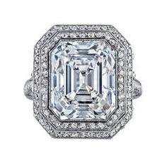 Cartier Important Art Deco 8.22 Carat Asscher Cut Diamond Ring