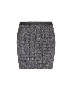 MANGO - Zipped bouclé mini-skirt