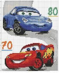 Resultado de imagem para ponto de cruz medidor cars pixar