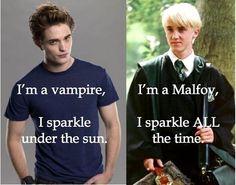 /* Edward VS Draco */ Obviously Malfoy win.