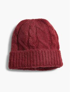 Brushed Cable Beanie #hat #womens
