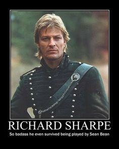 Sean Bean as rifleman Richard Sharpe. Let us reflect that Sharpe may be the only action character portrayed by Sean Bean who has not been killed. The universe may have it out for Sean Bean's characters, but it can't take down rifleman Sharpe. Gorgeous Men, Beautiful People, Sean Bean, Look At My, Image Film, Hommes Sexy, Jane Eyre, Raining Men, British Actors