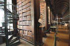 Spiral Staircase, Trinity College, Dublin, Ireland photo via travelers