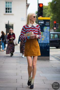 London SS 2017 Street Style: Poppy Delevingne