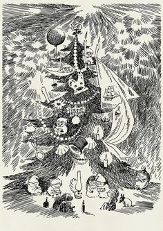 ♧   christmas in Moomin  valley   ♧   Tove Jansson