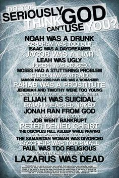 Do you seriously think God can''t use you? Christian posters. This is fantastic.