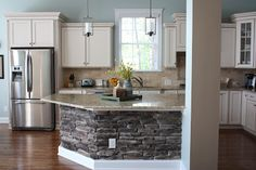 the butler blog: Stone Kitchen Island