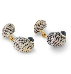Trianon 18-Karat Gold, Sapphire And Shell Cufflinks