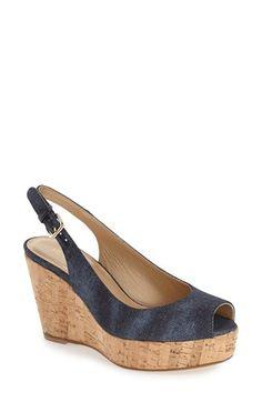 STUART WEITZMAN 'Jean' Wedge. #stuartweitzman #shoes #