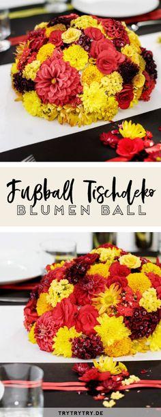 Fußball-Blumen-Sommermärchen! Ein Blumen-Fußball DIY