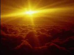 the sun above the clouds, an awesome memory of flying to Europe.