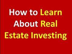 Learn Real Estate Investing - http://www.sportfoy.com/learn-real-estate-investing/