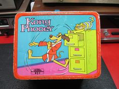 Hong Kong Phooey Antique Lunch Box (Vintage 1975 Cartoon Metal Lunchbox)