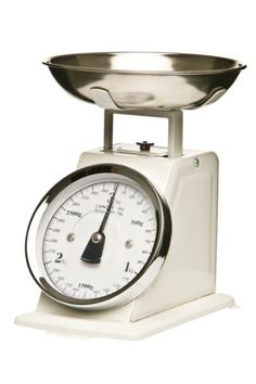Premier Housewares Küchenwaage im Retrolook mit Edelstahlschale, weiß Premier Housewares http://www.amazon.de