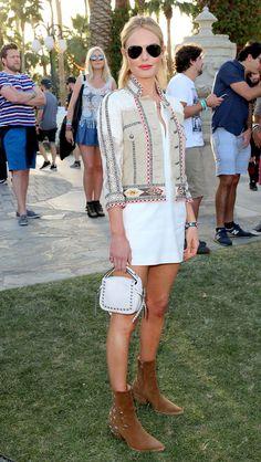 A atriz Kate Bosworth no festival de música Coachella, em 2015. Rachel Murray/Getty Images for Coachella
