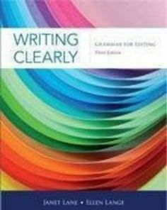 Writing Clearly: Grammar for Editing: Janet Lane, Ellen Lange: 9781111351977: Amazon.com: Books