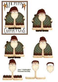 decoupage sheets 3d photo: Santa 3D Decoupage Sheet MerryChristmasSanta-JS-1.jpg