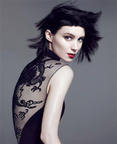 have i mentioned my obsession with see-through details and open back shirts? Rooney Mara for Vogue Nov 2011. Photo by Mert Alas and Marcus Piggott.