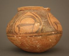 Harappan terracotta bowl with stags,  Indus Valley, Pakistan/India, 3300–1300 BC.