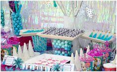 Disney's Frozen themed birthday party full of ideas! Via KarasPartyIdeas.com #frozen #frozenparty (19)