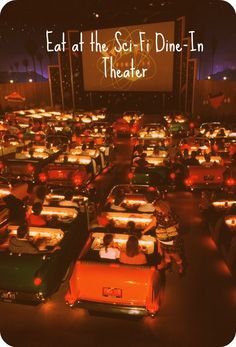 Eat at the Sci-Fi Dine-In Theater- It would be awesome if they played star wars  movies during star wars Weekends :)