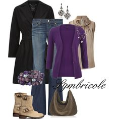 """Beige violet"" by symbricole on Polyvore"