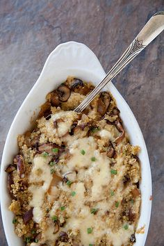 Mushroom quinoa bake