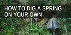 How to Dig a Spring on Your Own - Survival Sullivan Survival Supplies, Emergency Supplies, Survival Food, Homestead Survival, Survival Kit, Survival Skills, Emergency Go Bag, Earthquake Kits, Water Purification Tablets