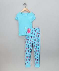 Kids Headquarters Aqua Pajama Set - Toddler 4deb32b73