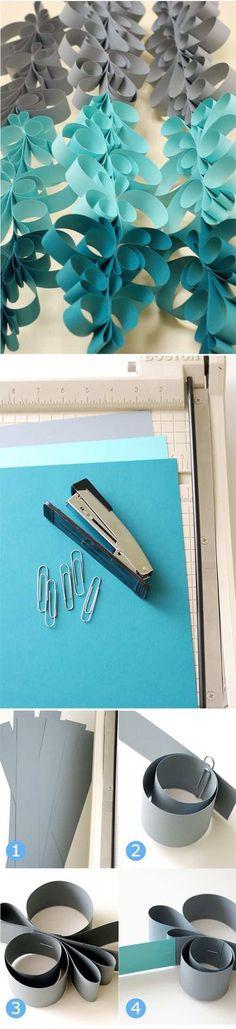 Como hacer cortinas de papel con guirnaldas en ombré con paso a paso!