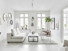 Living room White, minimal clean