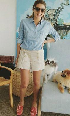 Look: Helena Bordon - Camisa Jeans