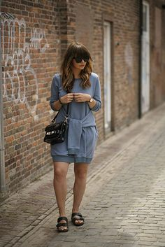 fashionzen fashion zen streetstyle sweater dress Ps11 proenza schouler bag birkenstock sandals &otherstories sunglasses