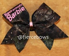 Backwoods Barbie Cheer Bow by MyFierceBows on Etsy Cheer Coaches, Cheer Mom, Cheer Stuff, Cheerleading Tips, Camo Bows, Softball Bows, Bow Shop, Cheer Hair, Hunting Girls